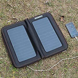 ECEEN® 13 Watts Foldable Solar Panel Bag Portable Solar Charger Pack Kits for iPhones, iPads, Samsung Galaxy Phones, Other Smartphones and Tablets, Gopro Cameras and More (13 Watts)
