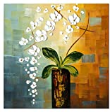 wieco Kunst–Beauty of Life 100% Hand Painted Moderne Blumen Artwork gespannt und gerahmt Abstract Floral Öl Gemälde auf Leinwand Art Wand zum aufhängen für Wohnzimmer Schlafzimmer Home Dekorationen Wand Decor