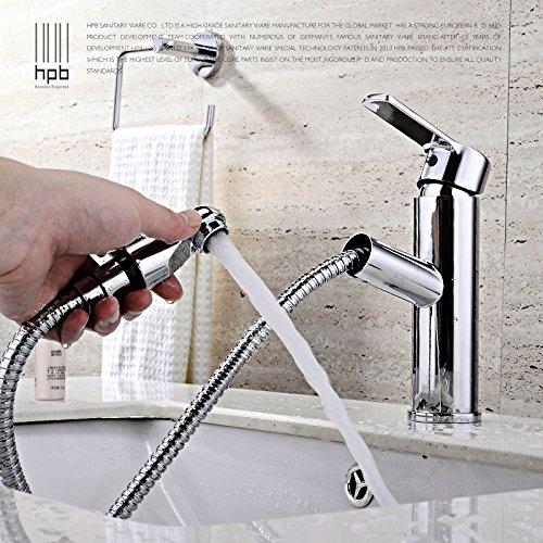 Maifeini P, Um Die Neu Hinzugefügte Ziehen Messing Badezimmer Im Vergleich Waschbecken Armaturen Und Kaltem Wasser Einzelne Bohrung Klicken Sie Auf P, Verchromt