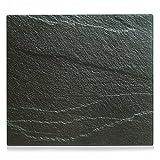 Zeller 26289 Herdblende-/Abdeckplatte 'Schiefer', Glas, anthrazit, 56 x 50 cm
