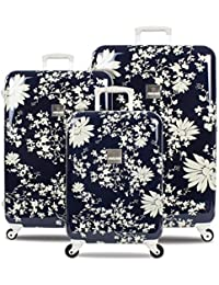 SuitSuit Lightweight Spinner Suitcases Midnight Daisies