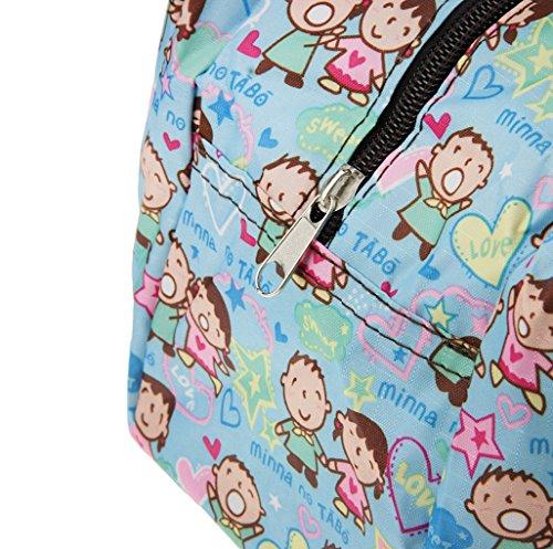 FakeFace Verdickte Bento Box Brotzeitbox Picknicktasche Picnic Bag Lunch Box aus Wasserdichtem Oxford Gewebe Abziehbild Hohe Kapazität Handtasche Schultertasche Shopper Clutch 26 x 18 x 18 CM #4