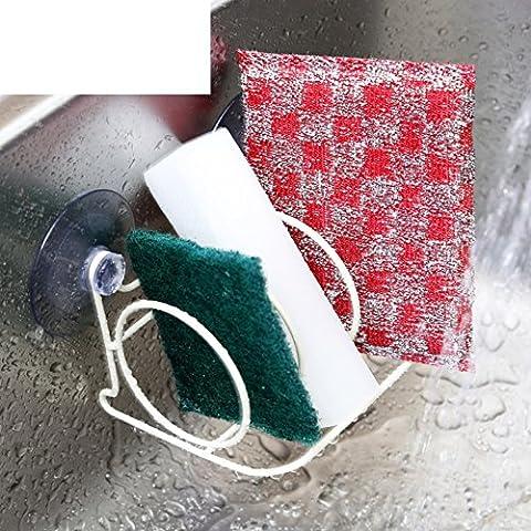 Sucker Waschbecken Rack/Schwamm Scheuern pad Wasser Lek/Bad Nagel-freie Lagerregal/Platte (Bad Scheuern)