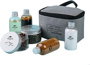 tentock 6-teiliges Set Küche Organizer Spice Essig Flasche für Salz Zucker mit Aufbewahrungstasche