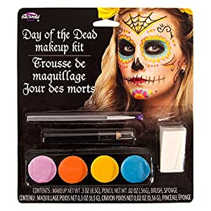 Day Of The Dead Kit De Maquillage D'Halloween (Multicolore)