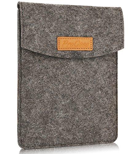 "ProCase 6-Zoll-Hülsen-Koffer-Tasche, Tragbarer Filz Tragebeutel Schutzhülle für 5-6\""Zoll Tablette Smartphone E-Reader E-Book -Schwarz"
