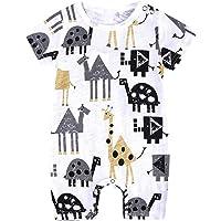 Sensail Bébé Garçon Filles Pyjamas Combinaison Grenouillère Coton Bande Dessinée Barboteuse Jumpsuit Mignon Vêtements d…