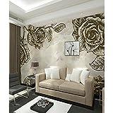 BZDHWWH Floral Art Deco 3D Home Dekoration Zeitgenössische Klassische Rustikale Wandverkleidung, Seidentuch Material Kleber Erforderlich Wandbild, Wandbekleidung, 160 Cm (H) X 240 Cm (W)