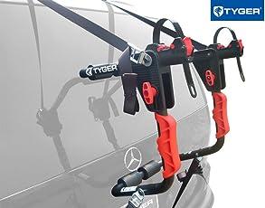 TYGER Deluxe Black 1-Bike Trunk Mount Bicycle Carrier Rack. (Fits most Sedans/Hatchbacks/Minivans and SUVs.)