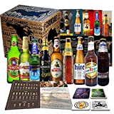 Biere der Welt 9 Flaschen Geschenk für Mann, Jubiläum, Geschenkset, Geburtstag +Vatertagsgeschenk+Bier Geschenk + Geschenkidee für Männer, Freunde, Kollegen + Vatertagsgeschenk Geburtstag + Tasting Anleitung + 4x Bierdeckel + zum Thema perfekt gestaltete Geschenkbox + 9 x Hochwertige Produktbeschreibung, Internationale Bierbox mit Bierspezialitäten aus aller Welt