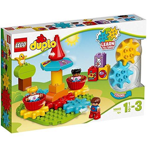 Lego 10845 Duplo Mein erstes Karussell, Spielzeug mit Lerncharakter, große Bausteine
