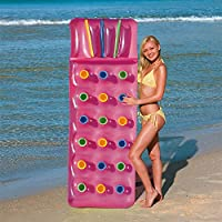 WB Bestway Inflatable 18 Pocket Fashion Sun Lounger Lilo Swimming Pool Air Bed Mat