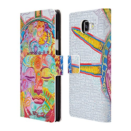 Offizielle Dean Russo Buddha Liberty Popkultur Brieftasche Handyhülle aus Leder für Samsung Galaxy A5 (2016)