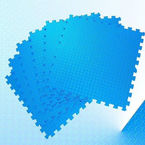 HLZDH EVA Schaum Schutzmatten Set Blau, EVA-Material, 6 Stück