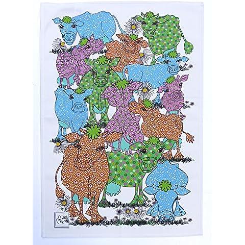 Mucca-MollyMac-Strofinaccio, colore: blu/arancione