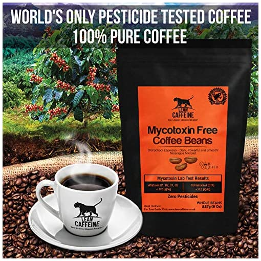 Lean Caffeine Bulletproof Coffee Ground Grounded Coffee 908g | Pesticide & Mycotoxin Free Upgraded Coffee Beans Ground