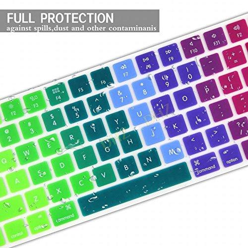 DHZ Spanish espanola Cubierta del teclado EU/UK European ISO Keyboard Layout Apple Magic Keyboard Cover Ultra Thin Soft Silicone Skin Protective Film for Magic Keyboard MLA22B/A Nine Color Dazzle