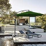 Hengda Für Garten, Terrasse, Loggia, Balkon, Camping-Platz, Pool, Planschbecken 3.0m Grün Sonnenschirm Garten Schirm Marktschirm Ampelschirm...