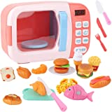 Legendog 31PCS Kids Microwave Playset Interactive Cooking Tool Realistic Pretend Play Toy Kitchen Toy