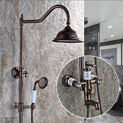 Preisvergleich Produktbild Caribou Luxus retro Kupfer Dusche Kombination Shower-Head/Handheld-Shower Combo