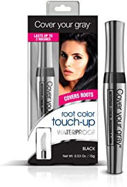 Cover Your Gray Waterproof Root Touch-Up, Black, 0.53 Ounce