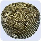 Simandra Korbschale mit Deckel aus 100% Ata, Rattan Palme, dekorative Unikate Korb-Schale Holz-Korb Allzweckkorb Handarbeit Natur rund 33x20 cm