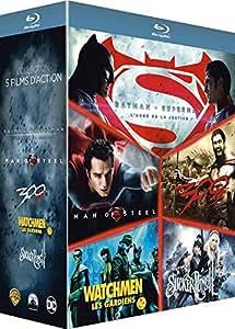 Zack Snyder : Batman Vs Superman, L'aube de la Justice + Man of Steel + 300 + Watchmen, Les Gardiens + Sucker Punch - Coffret Blu-Ray