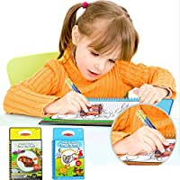 Mumustar Toddlers Kids Water Painting Drawing Mat Books With Magic Pen Scribbling Painting Story Cloth Pad Books Educational Toy