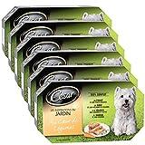 CESAR - Les inspirations du jardin - Au coeur de légumes 4 x 150g - 4 variétés en barquette pour chiens - Lot de 6