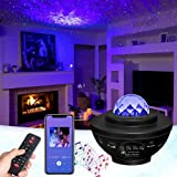 GOHYO Nachtlampje sterprojector, planetaire projector met muziekluidspreker en timer, Bluetooth-afstandsbediening voor kinder