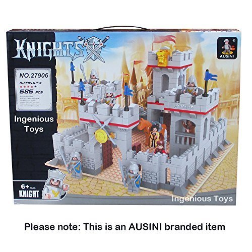 Ausini-Knights-Castle-Sets-8-figures-Kings-lion-Fortress-kingdoms-686pcs-27906