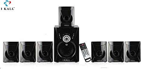 I KALL 7.1 Channel Bluetooth Multimedia Home Theater System