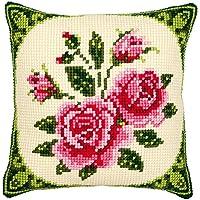 Vervaco Cojín de punto de cruz, diseño de rosas
