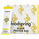 foodspring Barrita Proteica Vegana, Chia et citron, 12 x 60g, Barre Protéinée végétale sans arômes artificiels, peu de sucre