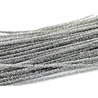 "2to5 100 12"" 30cm Sparkling Tinsel Stems Gold Silver Pipe Cleaners Christmas Crafts (Silver)"