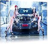 BMW X5, Bild auf Leinwand, XXL riesige Bilder fertig gerahmt mit Keilrahmen, Kunstdruck auf Wandbild mit Rahmen, günstiger als Gemälde oder Ölbild, kein Poster oder Plakat, Format:100x70 cm