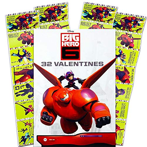 Paper Magic 32CT Showcase Big Hero 6 Kids Classroom Valentine Exchange Cards by Paper Magic