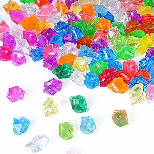160pcs Diamantes de Imitación Acrílico Piedras Brillantes Cristal Decorativos Colores Tansparente para Decoración 25mm*18mm (multicolor)