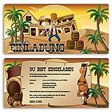 (15 x) Einladungskarten Kindergeburtstag Cowboy Western Einschulung Einladungen