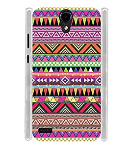 Indian Tribal Art Flag Soft Silicon Rubberized Back Case Cover for Panasonic T45 4G :: Panasonic T45