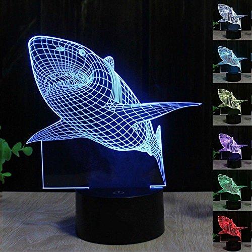 Hai 3D Optische Illusions-Lampen LED Nachtlichter, FZAI Touch Tischlampe Haus Dekoration 7 Farben Einzigartige Lichteffekte zum Kinder (Dekorationen Party Leopard)
