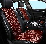 DIELIAN Holzkugel-Sitzauflage,Naturholz-Wulstige Sitz-Abdeckung, Die Kühles Kissen Für Auto-LKW Massiert