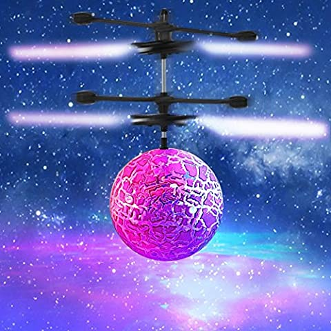 Maistore RC Toy, RC Flying Ball, RC Infrared Induction Helicopter Ball Built-in Color Changing LED Lights for Kids, Mini Flyer for Kids