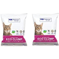 Petcrux Exclusive Scoopable Eco Clump Bentonite Cat Litter 10 L Equivalent to 5 Kg (Pack of 2 - Total 20 L)