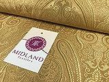 Ornament Paisley Gold Metallic Druck indischen Banarsi