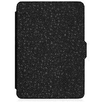 Fintie Hülle für der Kindle eReader (6 Zoll) Touchscreen ohne Spiegeleffekte, (8. Generation - 2016 Modell) - Die dünnste und leichteste Schutzhülle Tasche mit auto Sleep / Wake, Schwarz