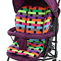 Treasure-house cojín acolchado maletero asiento Pad Rainbow para bebé cochecito cochecito