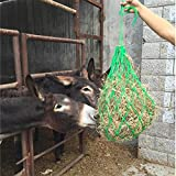 ZANGAO 5 Color Horse Forage Net Hay Bag Easy Feed Horse Fodder Bags Horse Room Horse Riding Hay Sack Horse Riding Equipment Equitation (Color : Red)