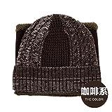 FQG*Cappelli e marea inverno suite elegante tappo di testa di equitazione esterna un kit bussato cuciture colore maglia hat , Marrone
