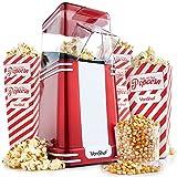 VonShef Vintage Popcorn Maker – Retro Hot Air Popcorn Machine Popper with 6